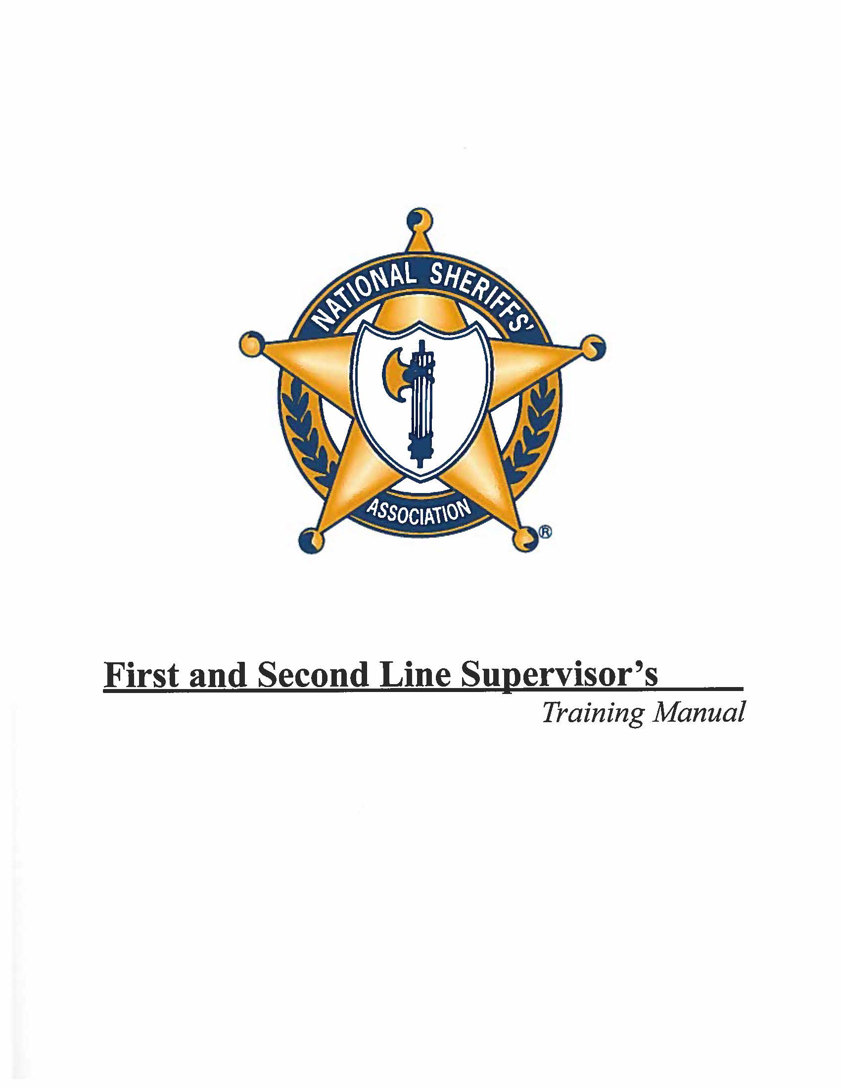 First and Second Line Supervisors Training Manual